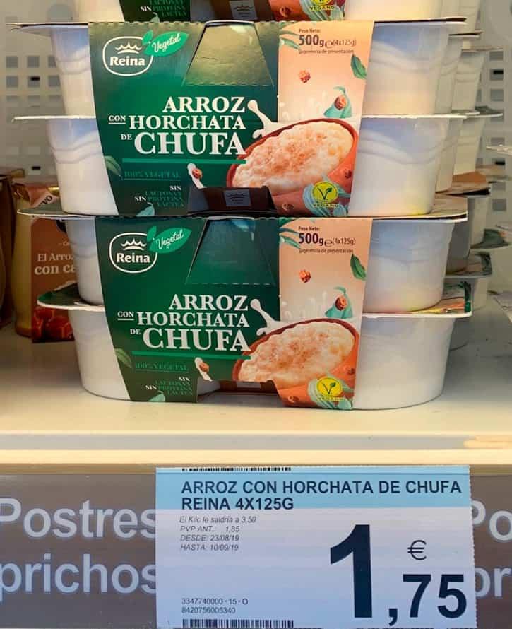Arroz con horchata de chufa: La reinvención del arroz con leche 100% vegetal
