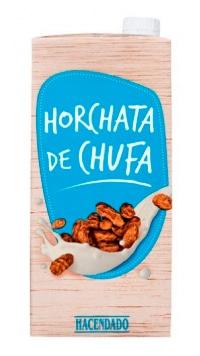"""""""Horchata de chufa"""" Hacendado fabricada por J García Carrión"""