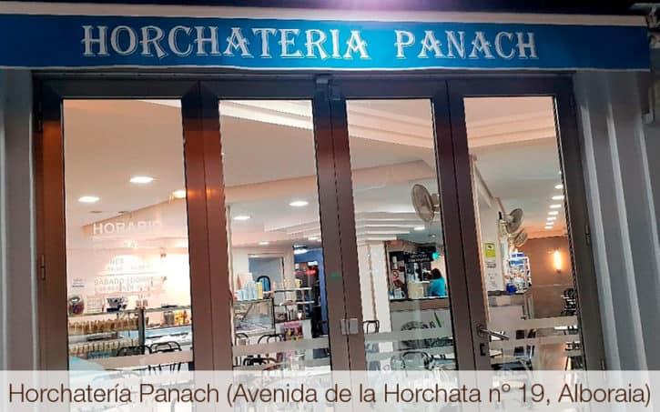 Horchatería Panach (Avenida de la Horchata nº 19, Alboraia)