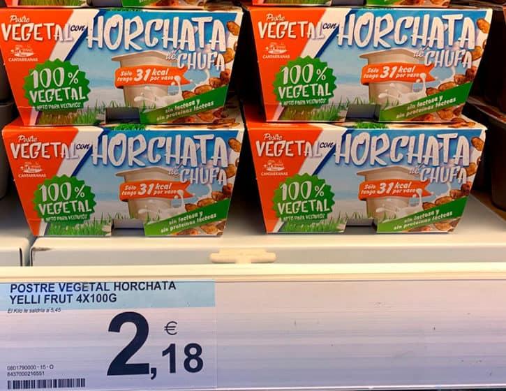 Postre vegetal con Horchata de Chufa: 100% vegetal
