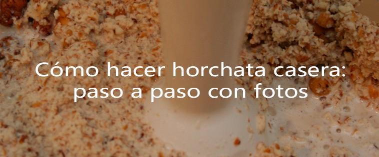 Receta tradicional horchata de chufas